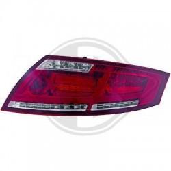 LAMPY TYLNE LED AUDI TT 06-14 CZERWONE / PRZEŹROCZYSTE LIGHTBAR
