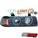 REFLEKTORY CCFL BMW E36 SEDAN 90-99 CZARNE