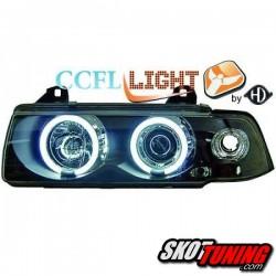 REFLEKTORY CCFL BMW 3 E36 COUPE / CABRIO 92-98 CZARNE