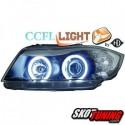 REFLEKTORY CCFL BMW 3 E90 05-08 CZARNE