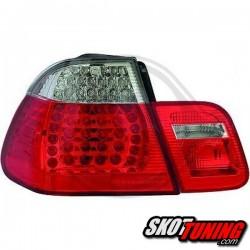 LAMPY TYLNE LED BMW E46 SEDAN 98-01 CZERWONE / PRZEŹROCZYSTE
