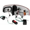 LAMPY TYLNE LED AUDI AUDI A4 SEDAN B7 04-08 CZERWONE/PRZEŹROCZYSTE