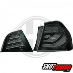 LAMPY TYLNE LED BMW 3 E90 SEDAN 09-12 LIGHTBAR CZARNE / DYMIONE