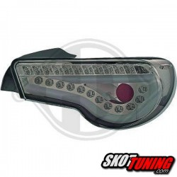 LAMPY TYLNE LED TOYOTA GT86 SUBARU BRZ  12+ CHROM / DYMIONE