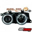 REFLEKTORY BMW E32 / E34 5 / 7 88-92 2 RINGI CZARNE