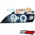REFLEKTORY Z RINGAMI CCFL BMW Z3 96-02 CZARNE