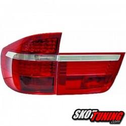 LAMPY TYLNE LED BMW X5 06-10 CZERWONE / PRZEŹROCZYSTE