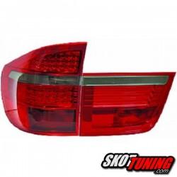 LAMPY TYLNE LED BMW X5 06-10 CZERWONE / DYMIONE