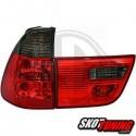 LAMPY TYLNE BMW X5 00-02 CZERWONE/DYMIONE