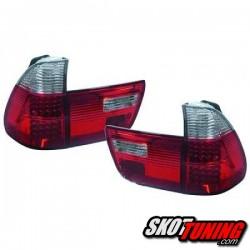 LAMPY TYLNE LED BMW X5 99-03 CZERWONE / PRZEŹROCZYSTE
