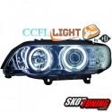 REFLEKTORY CCFL BMW X5 99-03 E53 CHROM