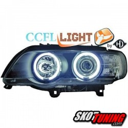REFLEKTORY CCFL BMW X5 99-03 E53 CZARNE
