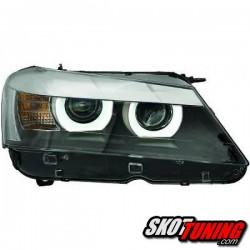 DRL REFLEKTORY BMW X3 F25 10-14 CZARNE