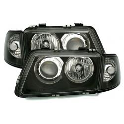 LAMPY PRZEDNIE Z RINGAMI AUDI A3 8L 96-00 CZARNE