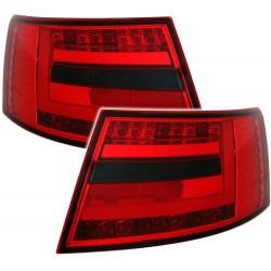 LAMPY TYLNE LED AUDI A6 4F SEDAN 04-08 CZERWONE / DYMIONE LIGHTBAR