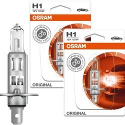 ŻARÓWKI 2x OSRAM H1 55W Original Line Blister