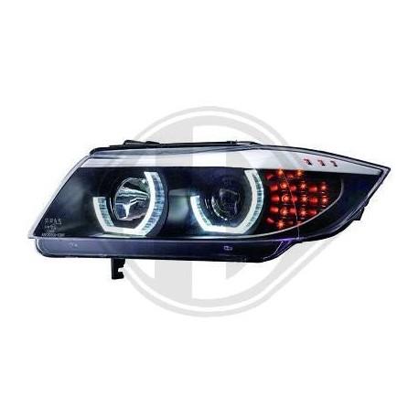 REFLEKTORY BMW 3 E90 SEDAN 05-08 CZARNE