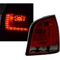 LAMPY TYLNE LED VW POLO 9N3 04.05-05.09 CZERWONE DYMIONE