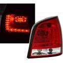 LAMPY TYLNE LED VW POLO 9N3 04.05-05.09 CZERWONE PRZEŹROCZYSTE