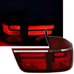 LAMPY TYLNE LED BMW X5 06-10 CZERWONE LIGHTBAR
