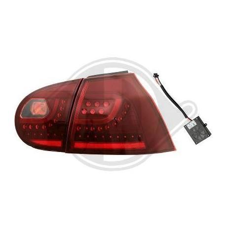 LAMPY TYLNE LED VW GOLF V 03-09 CZERWONE
