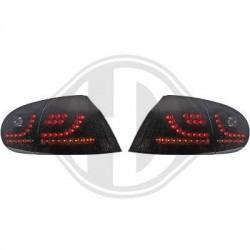 LAMPY TYLNE LED VW GOLF V 03-09 CZARNE / DYMIONE