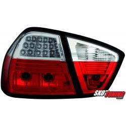 LAMPY TYLNE LED BMW E90 SEDAN 05-09.08 CZERWONE/PRZEŹROCZYSTE