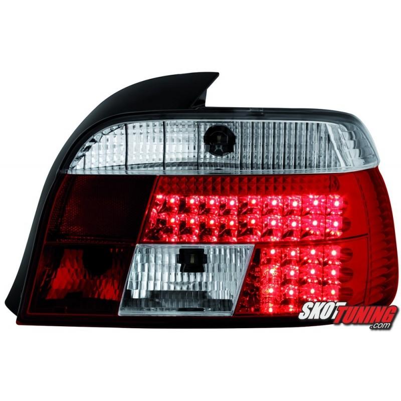 Lampy Tylne Led Bmw 5 E39 Sedan 95 00 Czerwone Przeźroczyste