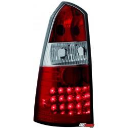 LAMPY TYLNE LED FORD FOCUS TURNIER 99-05 CZERWONE/PRZEŹROCZYSTE