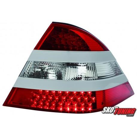 LAMPY TYLNE LED MERCEDES BENZ W220 S-KLASA SREBRNE/CZERWONE/PRZEŹROCZYSTE