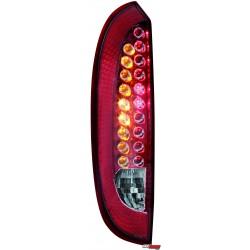 LAMPY TYLNE LED OPEL CORSA C 00-06 CZERWONE/PRZEŹROCZYSTE