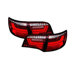 LAMPY TYLNE LED AUDI A6 4F C6 KOMBI 04-11 CZERWONE / PRZEŹROCZYSTE DYNAMICZNY KIERUNKOWSKAZ