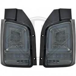 LAMPY TYLNE LED VW TRANSPORTER T6 2015+ CZARNE / DYMIONE Z KIERUNKOWSKAZEM LED