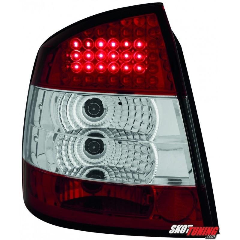 Lampy Tylne Led Opel Astra G 35 Drzwiowe 98 04 Czerwoneprzeźroczyste