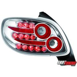 LAMPY TYLNE LED PEUGEOT 206 98-09 PRZEŹROCZYSTE