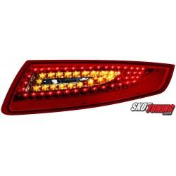 LAMPY TYLNE LED PORSCHE 911/997 04-08 CZERWONE/PRZEŹROCZYSTE