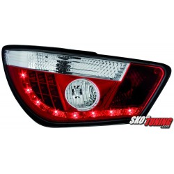 LAMPY TYLNE LED SEAT IBIZA 6J 04.08+  CZERWONE/PRZEŹROCZYSTE