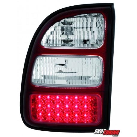 LAMPY TYLNE LED TOYOTA RAV4 98-03 CZERWONE/PRZEŹROCZYSTE