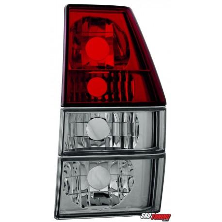 LAMPY TYLNE VW POLO 86C I 81-90 CZERWONE/PRZEŹROCZYSTE