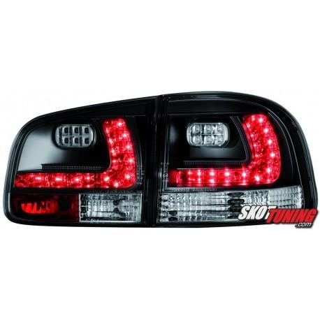 LAMPY TYLNE LED VW TOUAREG 02-10 CZARNE