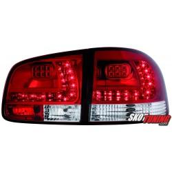 LAMPY TYLNE LED VW TOUAREG 02-10 CZERWONE/PRZEŹROCZYSTE