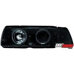 REFLEKTORY LED BMW E36 SEDAN 7.92-3.98 CZARNE/CHROM