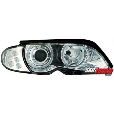 REFLEKTORY LED BMW E46 SEDAN 01-03 CHROM
