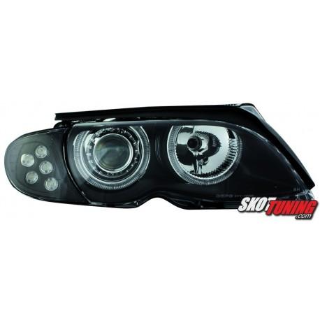 REFLEKTORY LED BMW E46 SEDAN 01-03 CZARNE