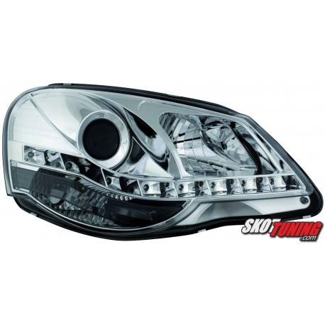 DRL REFLEKTORY VW POLO 9N3 05.05-09 CHROM