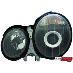 REFLEKTORY MERCEDES BENZ W210 E-KLASA 99-01 CZARNE