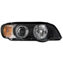 REFLEKTORY BMW X5 04-06 E53 XENON CZARNE 2 RINGI