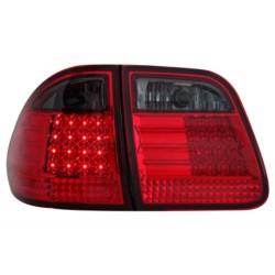 LAMPY TYLNE LED MERCEDES BENZ W210 E-KLASA 96-03 KOMBI CZERWONE/DYMIONE