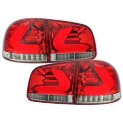 LAMPY TYLNE CARDNA LED VW TOUAREG LIGHTBAR SREBRNE/CZERWONE/PRZEŹROCZYSTE