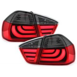 LAMPY TYLNE CARDNA LED BMW 3 E90 SEDAN 05-08 LIGHTBAR CZERWONE/DYMIONE